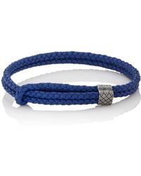 Bottega Veneta - Sterling Silver & Intrecciato Leather Bracelet - Lyst