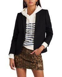 Saint Laurent - Wool Canvas One-button Blazer - Lyst