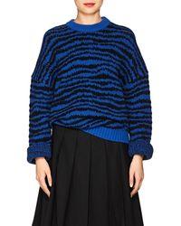 Marc Jacobs - Zebra-striped Wool-blend Sweater - Lyst