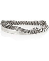 Title Of Work - Mixed-chain Half-cuff Wrap Bracelet - Lyst