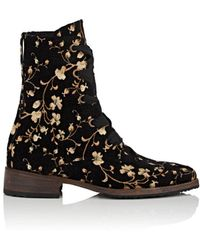 Esquivel - London Floral Brocade Ankle Boots - Lyst