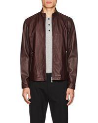 Theory - Morvek Leather Racer Jacket - Lyst