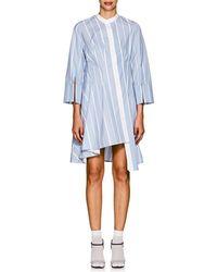 Ji Oh - Striped Asymmetric Cotton Poplin Dress - Lyst