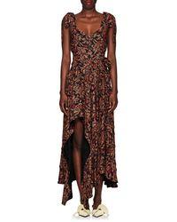 Proenza Schouler - Paisley Georgette Asymmetric Dress - Lyst