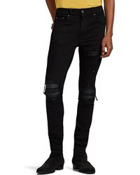 c03daa43c1f629 Amiri Mx1 Leather Patch Jeans in Black for Men - Lyst