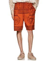 Acne Studios - Nejlika Mixed-print Cotton Shorts - Lyst