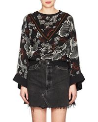 Warm - Floral Silk Blouse - Lyst