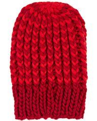 Wommelsdorff - Bella Striped Chunky Wool Beanie - Lyst
