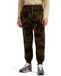 RRL - Camouflage Sherpa Joggers - Lyst