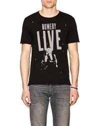John Varvatos - Bowery Live Cotton T-shirt - Lyst