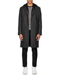 Officine Generale - Herringbone-pattern Wool Flannel Topcoat - Lyst