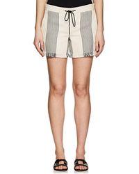 Derek Lam - Cotton-blend Basket-weave Shorts-black - Lyst