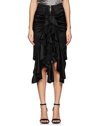 Saint Laurent - Silk Knee-length Ruffle Skirt - Lyst