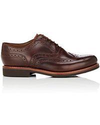 Grenson - Stanley Leather Wingtip Balmorals - Lyst