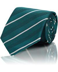 Bigi - Narrow-stripe Textured Silk Necktie - Lyst