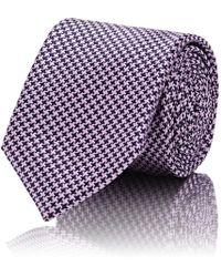 Barneys New York - Houndstooth Silk-blend Necktie - Lyst