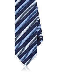 Barneys New York   Striped Silk   Lyst