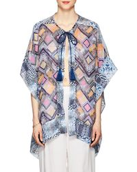 OndadeMar - Fressia Mixed-print Voile Cover - Lyst