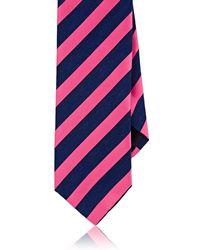 Barneys New York - Striped Satin & Chambray Necktie - Lyst