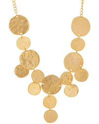 Kenneth Jay Lane - Yellow-gold-plated Coin Bib Necklace - Lyst