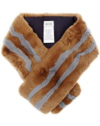 Kule - The Monroe Striped Rabbit Fur Pull - Lyst