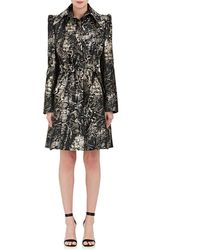 Zac Posen | Python Jacquard Trench Coat Dress | Lyst