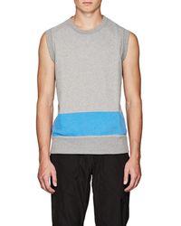 Tomas Maier - Cotton Fleece Sweatshirt Vest - Lyst