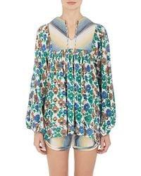 Warm - Floral Cotton Voile Tunic - Lyst