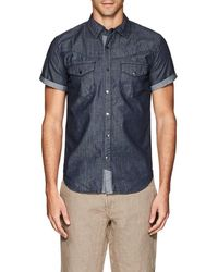 Blank NYC - Cotton Chambray Shirt - Lyst