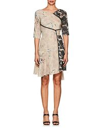 Maison Mayle - Lace & Silk Crepe Belted Dress - Lyst