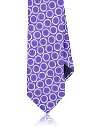 Barneys New York - Oval-print Silk Satin Necktie - Lyst