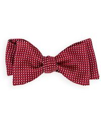 Barneys New York - Dot-square Silk Jacquard Bow Tie - Lyst