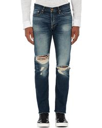 NSF - Distressed Crop Jeans - Lyst