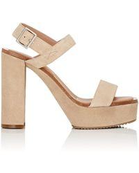 Calvin Klein - Fauna Bis Suede Platform Sandals - Lyst