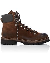 Barneys New York - Burnished Suede Hiking Boots - Lyst