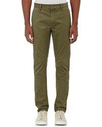 Barneys New York Cotton Twill Slim