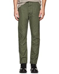 Officine Generale - Cotton Canvas Pants - Lyst