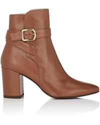 Barneys New York - Buckle-strap Leather Ankle Boots - Lyst