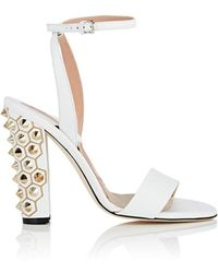 Brian Atwood - Crawford Leather Sandals - Lyst