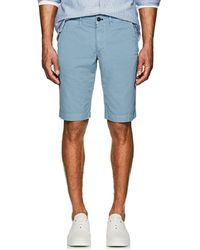 Barneys New York - Cotton Slim Shorts - Lyst