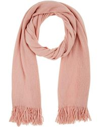 Barneys New York - Fringed Knit Scarf - Lyst