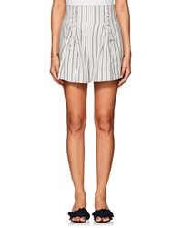 Zimmermann - Striped Linen Shorts - Lyst