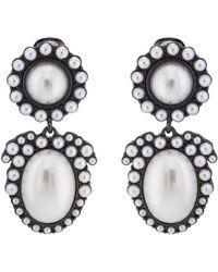 Kenneth Jay Lane - Imitation-pearl Clip-on Earrings - Lyst