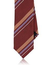Massimo Bizzocchi - Striped Silk Faille Necktie - Lyst