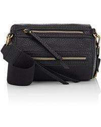 Barneys New York - Mini Leather Round Duffel Bag - Lyst