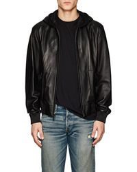 Ralph Lauren Purple Label - Mitchell Hooded Leather Jacket - Lyst