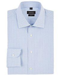 Barneys New York - Checked Cotton Dress Shirt - Lyst