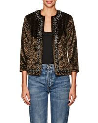 L'Agence - Chain-trimmed Faux - Lyst