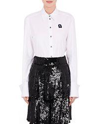 OSMAN | Devon Embroidered Cotton Shirt | Lyst