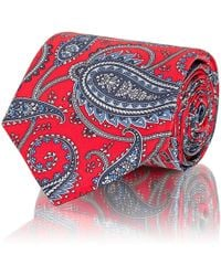 Brioni - Paisley Silk Satin Necktie - Lyst